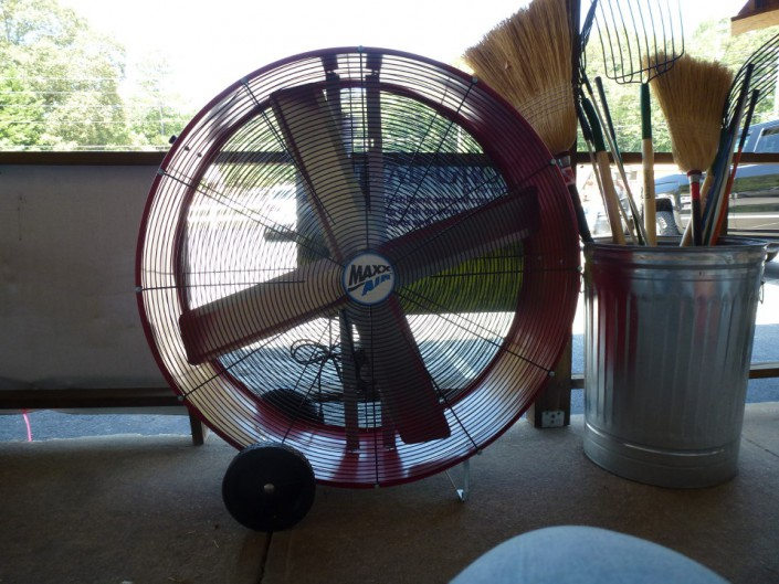 Industrial fans for barns and chicken coops