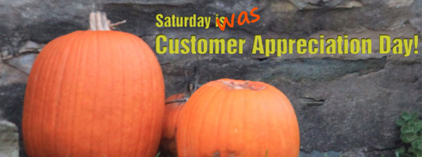Customer Appreciation Day was October 13, 2012