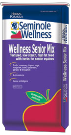 Seminole Wellness Senior Mix - Low-starch, 10% fat, complete feed with herbs