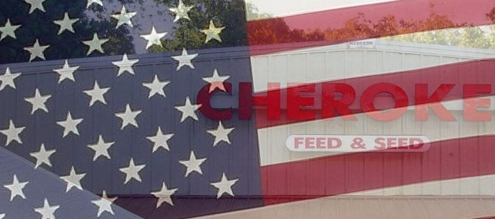 Cherokee Feed & Seed stores will be closed for Memorial Day