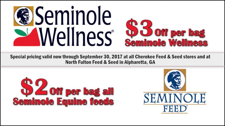 Seminole Horse Feed Special at Cherokee Feed & Seed in GA