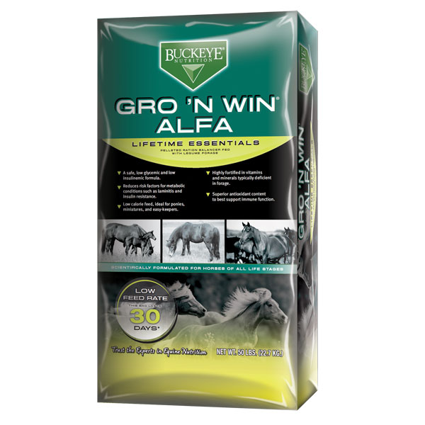 Buckeye Gro 'n Win Alfa is available at Cherokee Feed & Seed