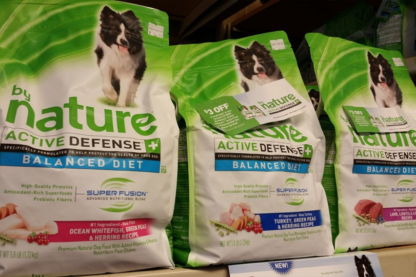 By Nature dog food is available at Cherokee Feed & Seed stores.