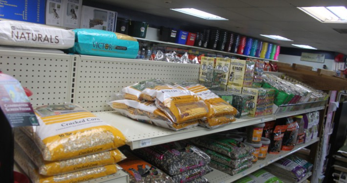 Cherokee Feed & Seed carries bird feed and feeders.