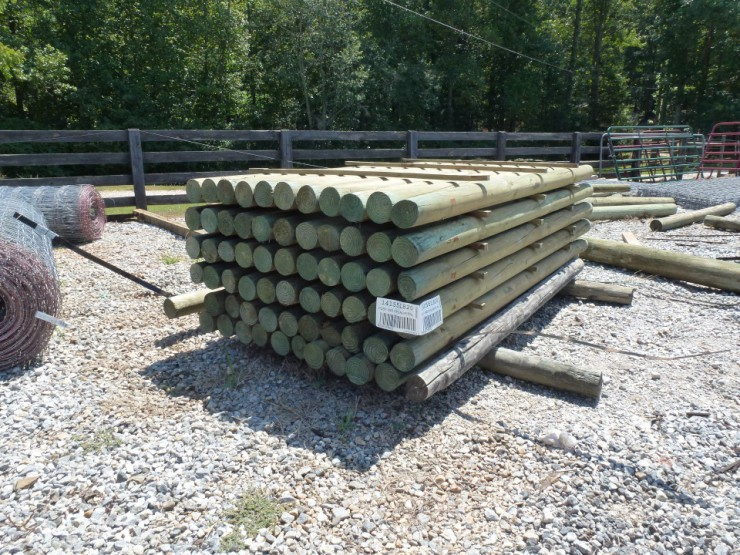 Wood Fence Posts at Cherokee Feed & Seed