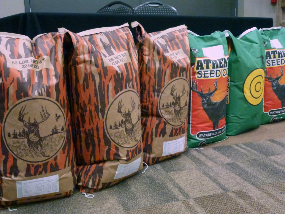 Hunting supplies and deer plot products at Cherokee Feed & Seed stores.
