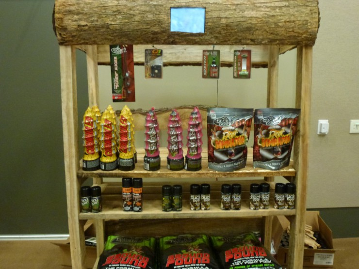 Hunting supplies and deer attractant products at Cherokee Feed & Seed stores.