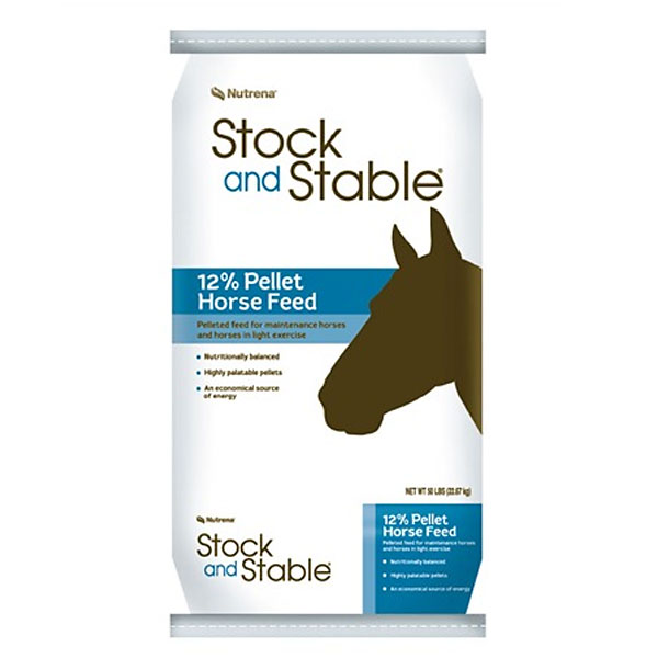 Nutrena Stock and Stable 12% Pelleted Horse Feed