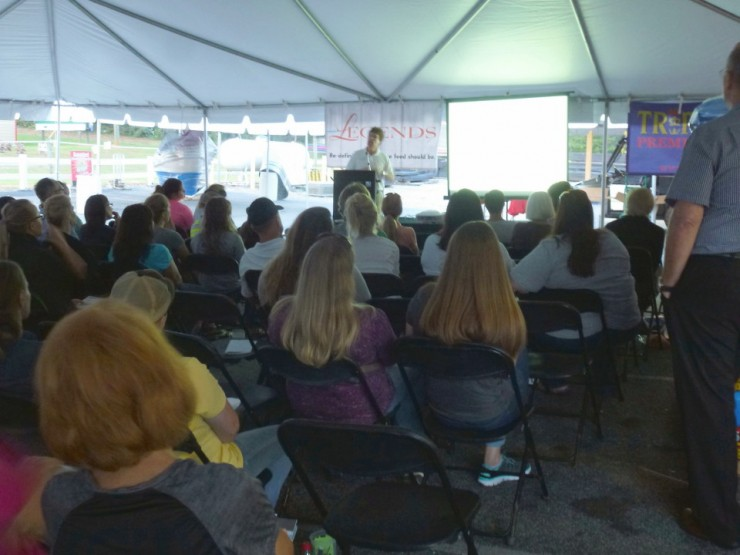 Attendees at the FREE Horse Health Seminar at Cherokee Feed & Seed, Ball Ground, GA
