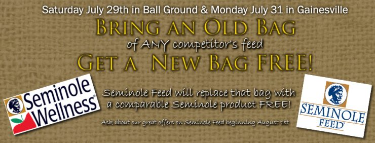 FREE Seminole Horse Feed - One Day Only!