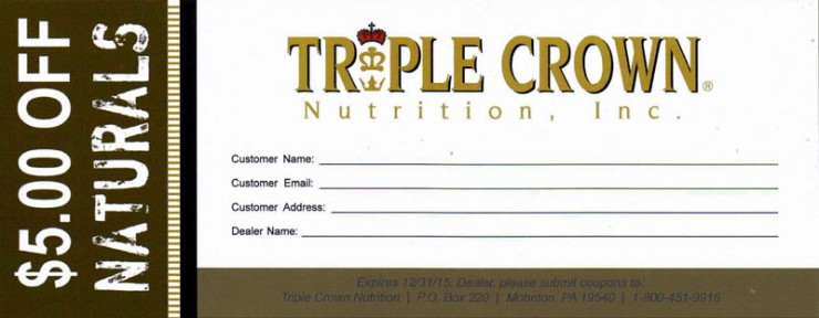 Triple Crown Naturals Coupon