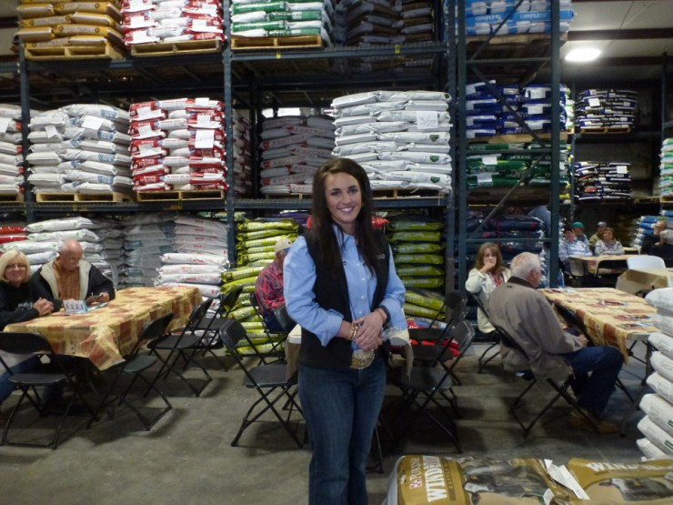 Alexis Stinson of Purina at Cherokee Feed & Seed in Ball Ground, GA.