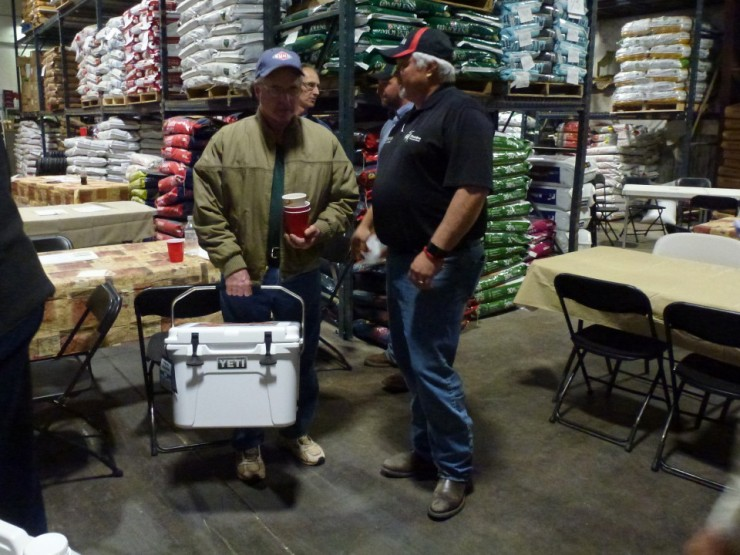 Daid Perkins won the YETI cooler giveaway on Wednesday evening.