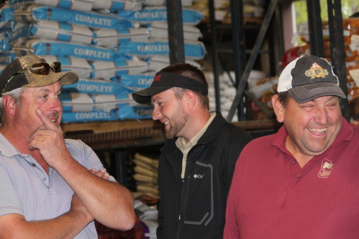 Customers at the Purina Cattle Mineral Meeting at Cherokee Feed & Seed in Ball Ground, GA