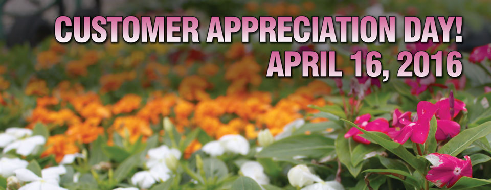 Gainesville Customer Appreciation Day is April 16th