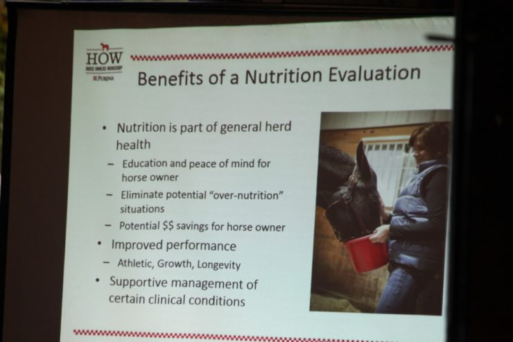Purina - Benefits of Equine Nutritional valuation