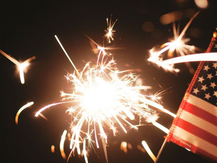 10 Tips to Keep Your Pets Safe on July 4th - sparkler & flag
