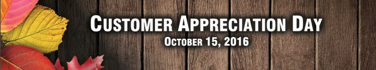 Customer Appreciation Day is October 15, 2016 - Cherokee Feed & Seed Ball Ground, GA