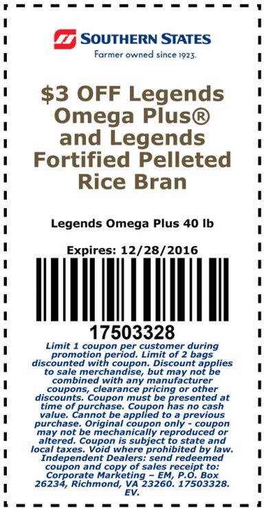 $3 OFF/Bag coupon on Legends Fat Supplements for Your Hard Keepers!
