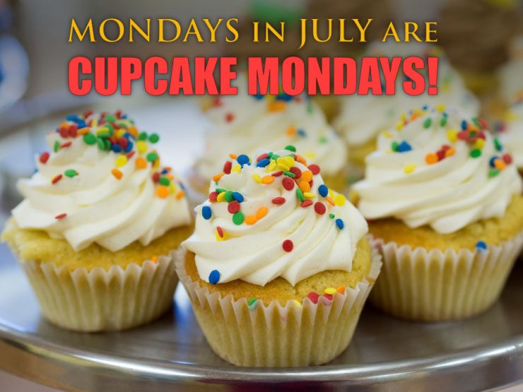 Mondays in July are Cupcake Mondays !