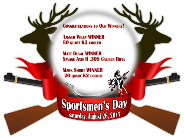 Cherokee Feed & Seed Sportsmen's Day Winners!