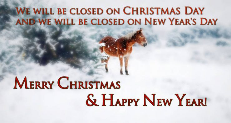 Cherokee Feed & Seed will be closed on Christmas Day & New Years Day.