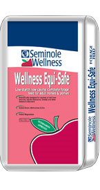 Seminole Wellness Equi-Safe - Complete, low starch, forage-based horse feed