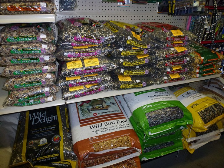 Wild Bird Feed, Sunflower Seeds, Mealworms and Suet - Available at Cherokee Feed & Seed