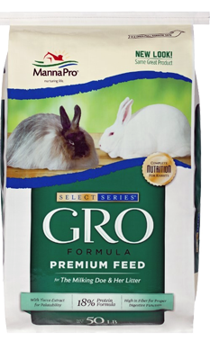 MannaPro Select Series GRO Formula Rabbit Feed