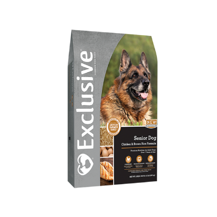 Exclusive Senior Dog Food Chicken & Rice Formula