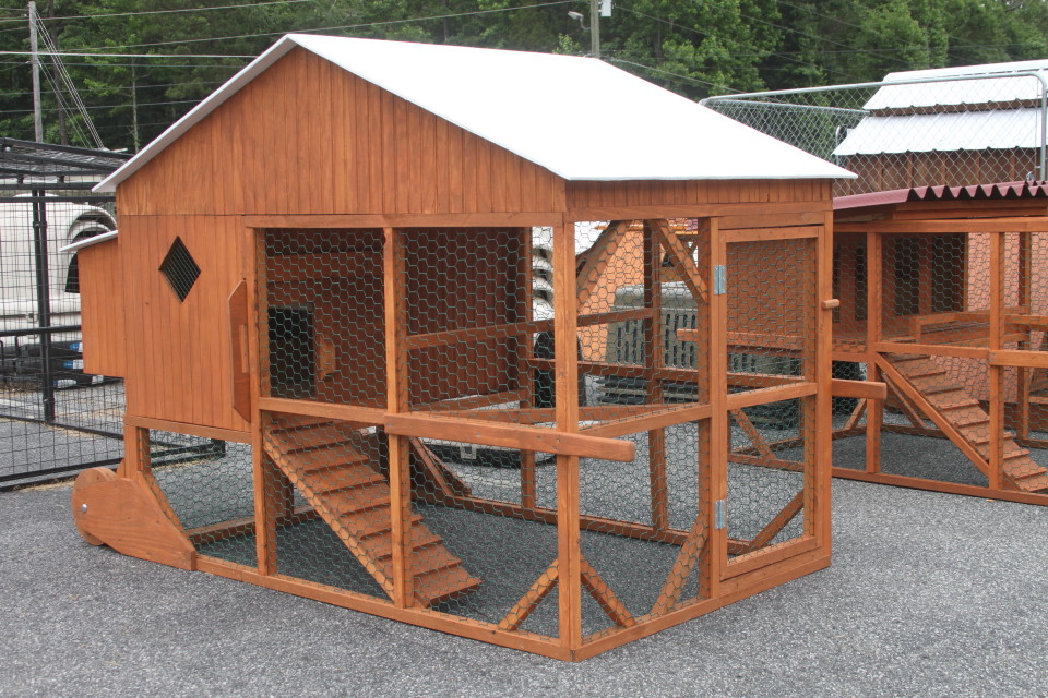 Cherokee Feed & Seed carries a full line of chicken coops.