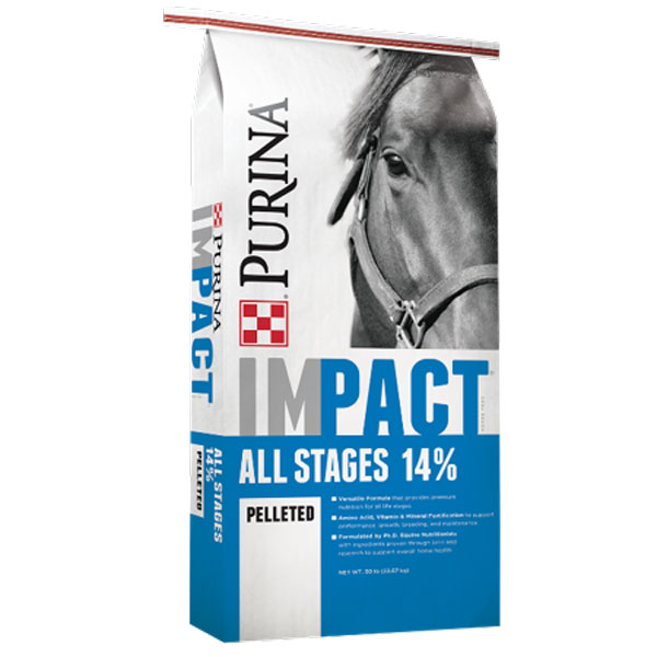 Purnia Impact All Stages Pelleted 14% Horse Feed - Cherokee Feed & Seed, Georgia