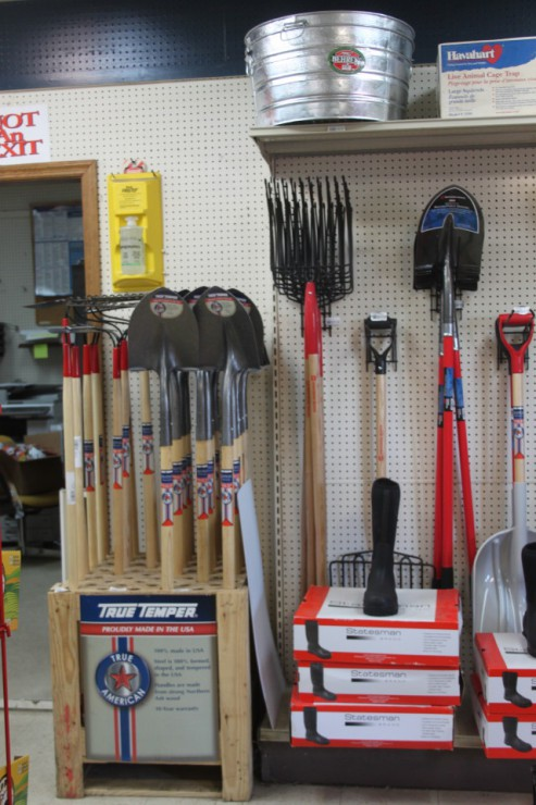 Cherokee Feed & Seed carries shovels, racks and tools for your farm or garden needs.