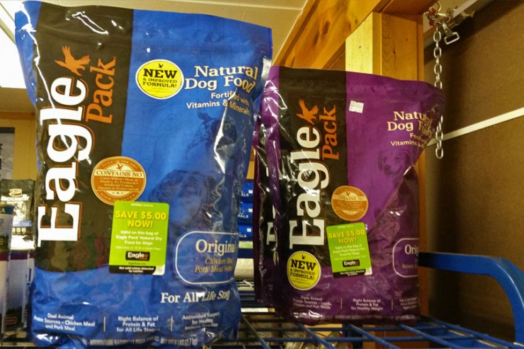 Eagle Pack natural dog food is available at Cherokee Feed & Seed stores.