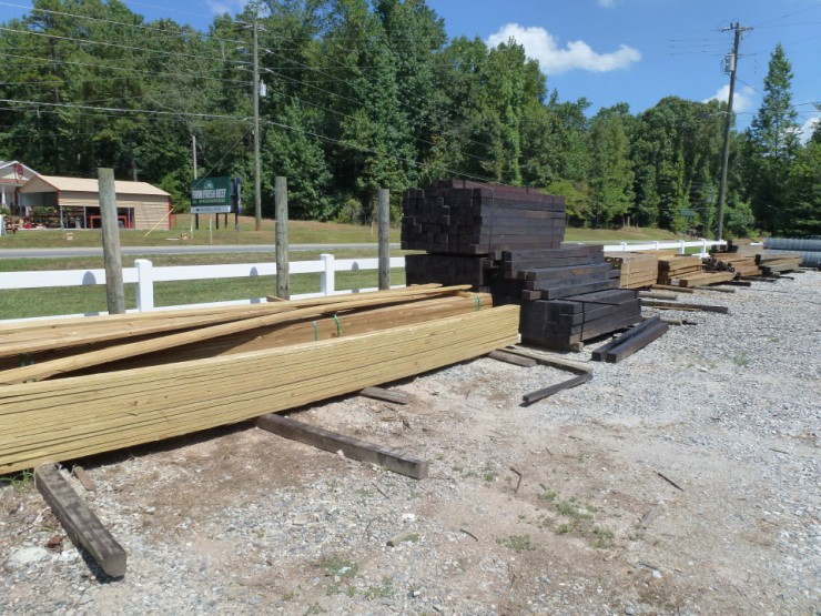 Four by Four Pressure TreatedFence Posts at Cherokee Feed & Seed