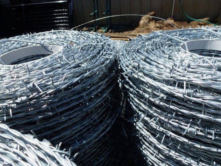 Metal Barbed Wire Fencing at Cherokee Feed & Seed