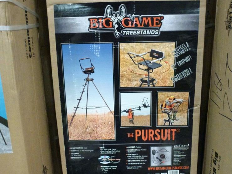 Find hunting tree stands at Cherokee Feed & Seed stores.
