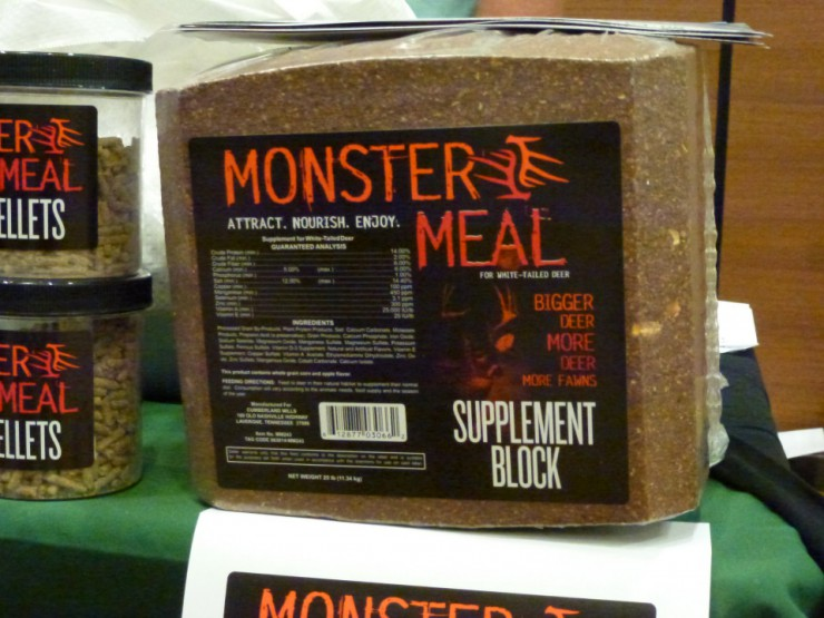 Find Monster Meal deer feeder supplement blocks at Cherokee Feed & Seed stores.