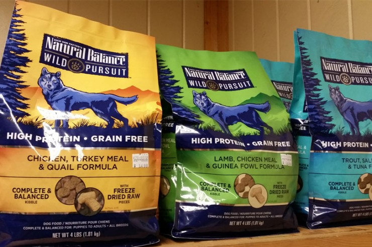 Natural Balance Wild Pursuit dog food is available at Cherokee Feed & Seed stores.