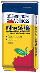 Seminole Wellness Safe & Lite- Low starch, low energy, pelleted horse feed