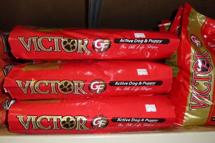 Victor dog food is available at Cherokee Feed & Seed stores.