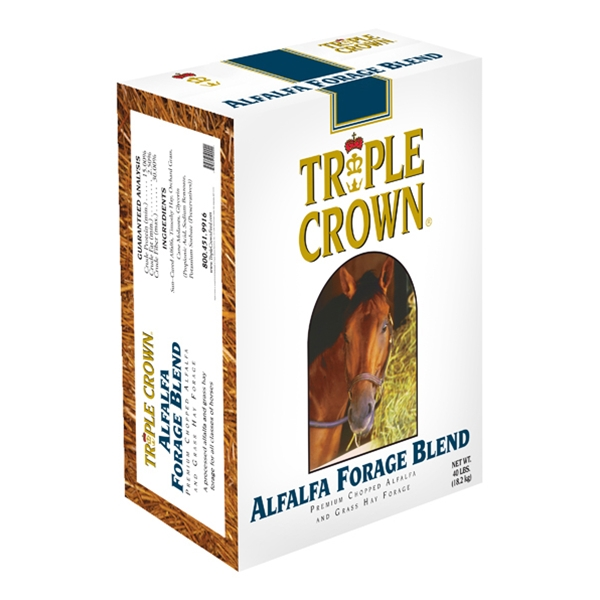 Triple Crown Alfalfa Forage Blend for Horses Chopped 40 lb