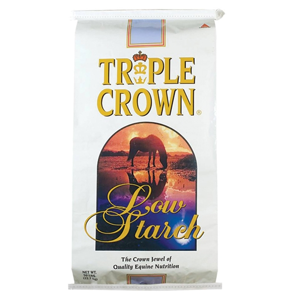 Triple Crown Low Starch Pelleted Horse Feed 50 lb