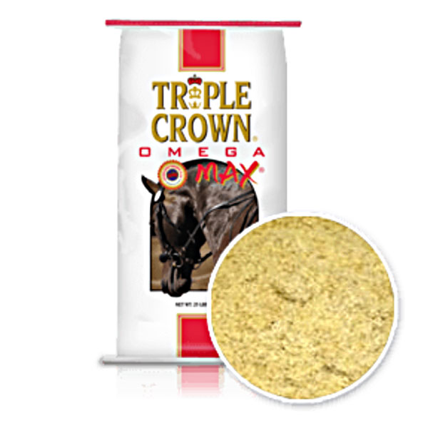 Triple Crown Omega Max Ground Golden Flax Supplement 25 lb