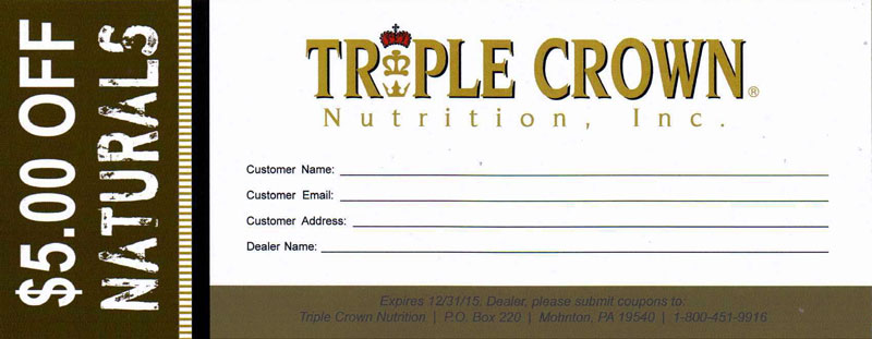 Triple Crown Naturals Coupon for $5 OFF