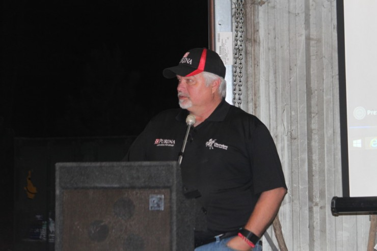 Alan Jessie owner of Cherokee Feed & Seed hosted the Purina Cattle Mineral Meeting