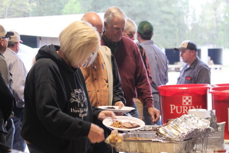 Cherokee Feed & Seed seminar attendees are well fed!