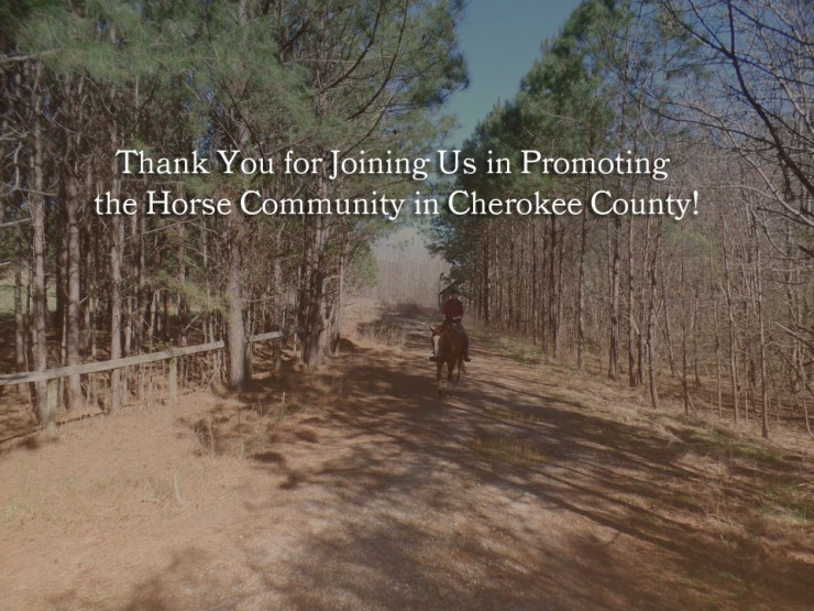 Thank you for joining the Cherokee County Equine Notification List