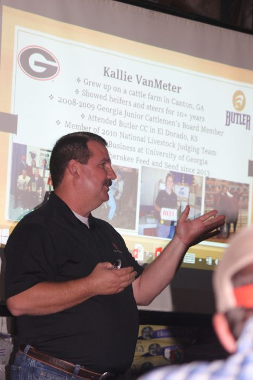 Tracy Hood and Kallie vanMeter - speaking about Cattle Nutrition