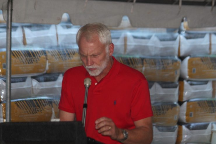 Dr. Jimmy Nash at the Hay Quality Chart at the FREE Horse Health Seminar at Cherokee Feed & Seed in Ball Ground, GA